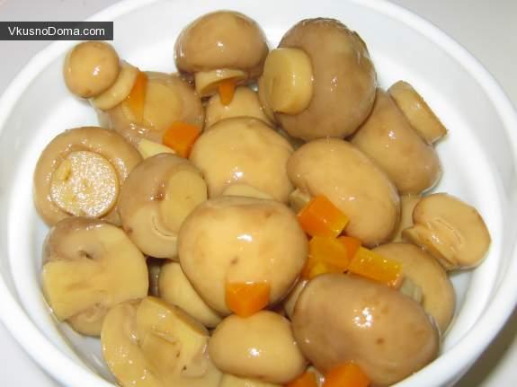 Маринованные шампиньоны рецепт с фото