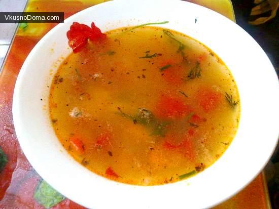 Рыбный суп с помидорами рецепт с фото