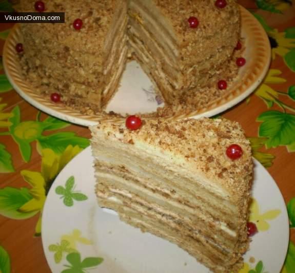 Торт с манкой рецепт с фото