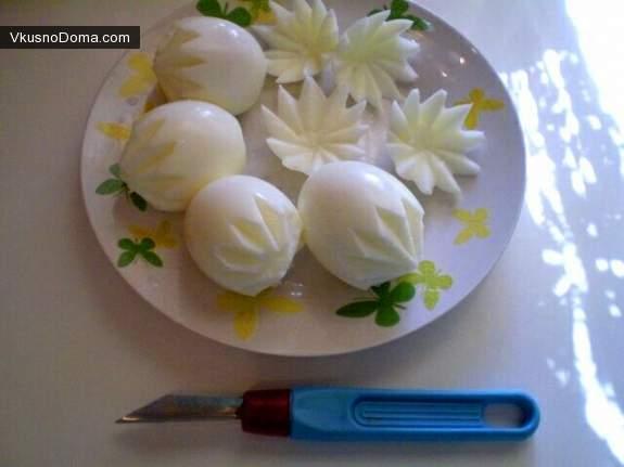 Как из яйца сделать цветы