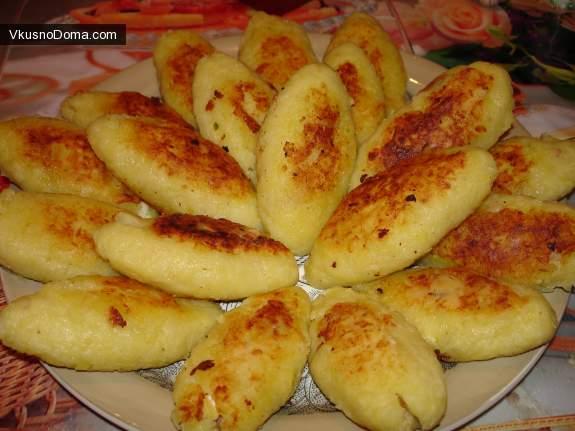 Картофельные котлеты из пюре рецепт с начинкой пошагово