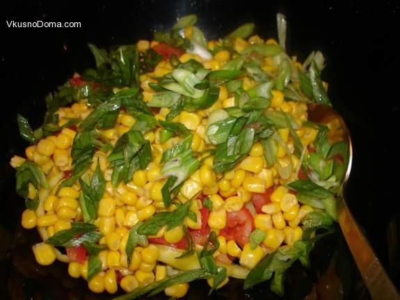 Салат с сушёными кальмарами рецепт