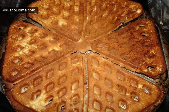 вафли под крем рецепт для вафельницы на газу фото