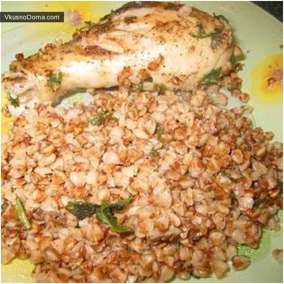 Гречневая каша с курицей в духовке рецепт с фото